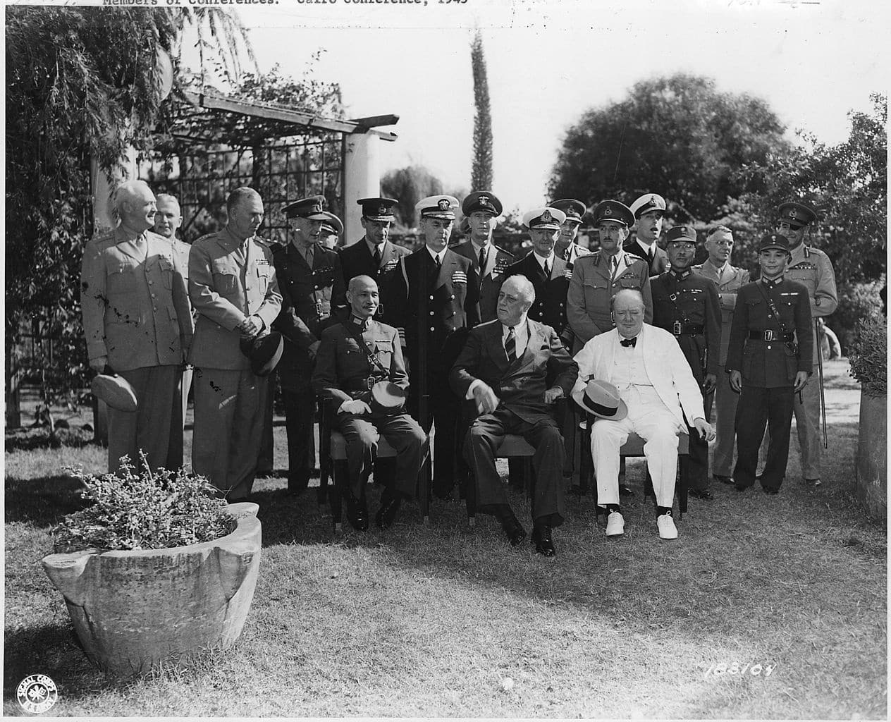 The Potsdam Conference - July 20th 1945 - Roosevelt, Churchill, and Chinese leader Chiang Kai Shek at the Cairo Conference in 1943