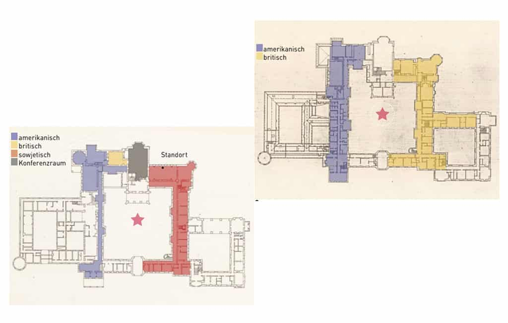 The Potsdam Conference - July 23rd 1945 - The layout inside the Schloss Cecilienhof during the Potsdam Conference