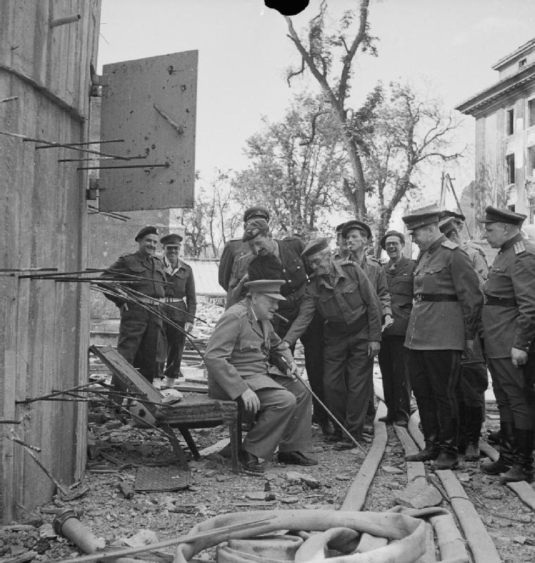The Potsdam Conference - July 16th 1945 - Winston Churchill visits the site of Hitler's Führerbunker