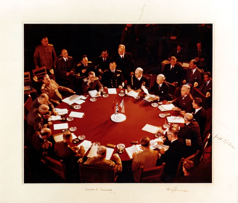 The Potsdam Conference - July 25th 1945 - The eleventh plenary session of the Potsdam Conference on July 25th would be Winston Churchill's last (although he did not yet know it)