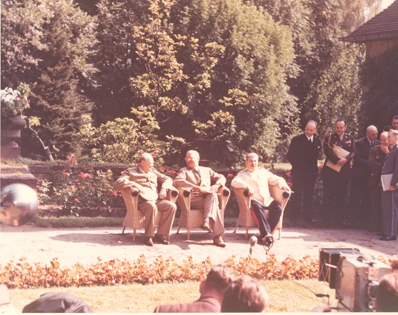 The Potsdam Conference - July 25th 1945 - A final photo with the Big Three before Winston Churchill's departure on July 25th 1945