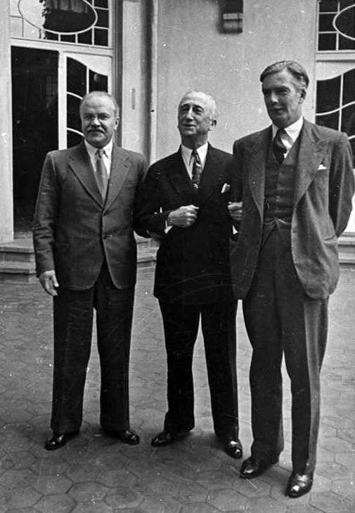 The Potsdam Conference - July 17th 1945 - The Foreign Ministers (Molotov, Byrnes, Eden)