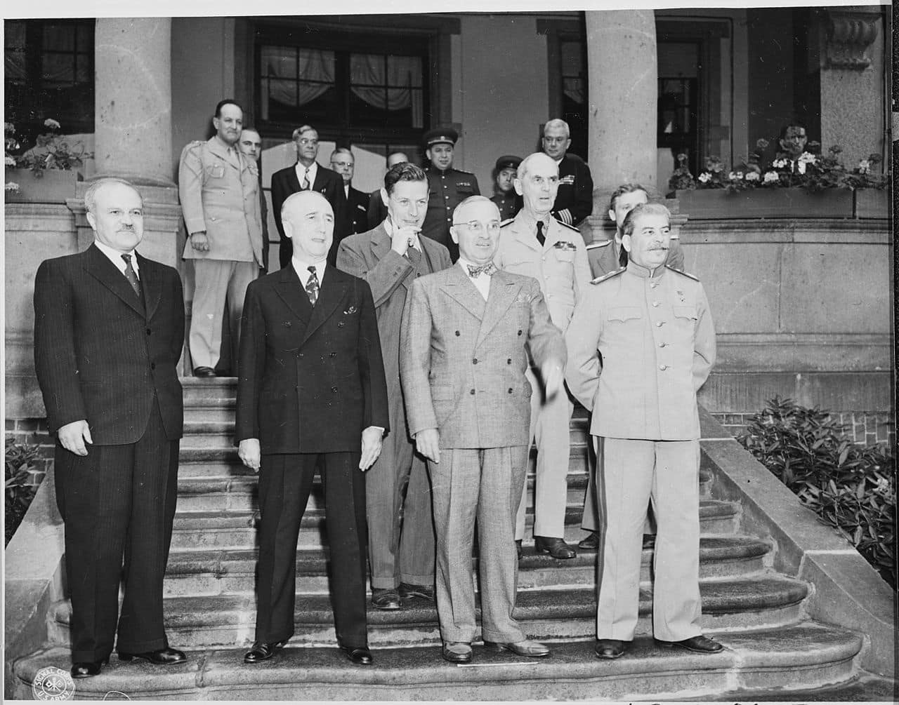 The Potsdam Conference - July 17th 1945 - Truman and Stalin meet for the first time