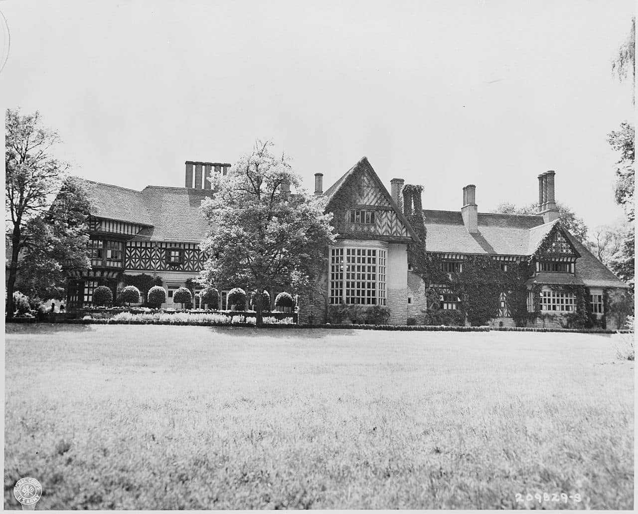 The Potsdam Conference - July 23rd 1945 - Schloss Cecilienhof as viewed from the river Havel side of the palace