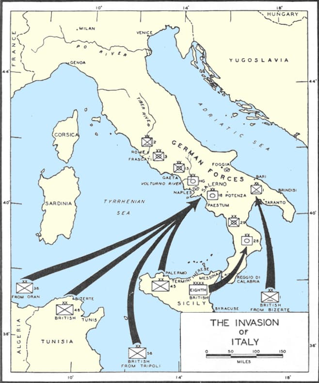 The Potsdam Conference - July 20th 1945 - The Allied invasion plan for Italy in 1943