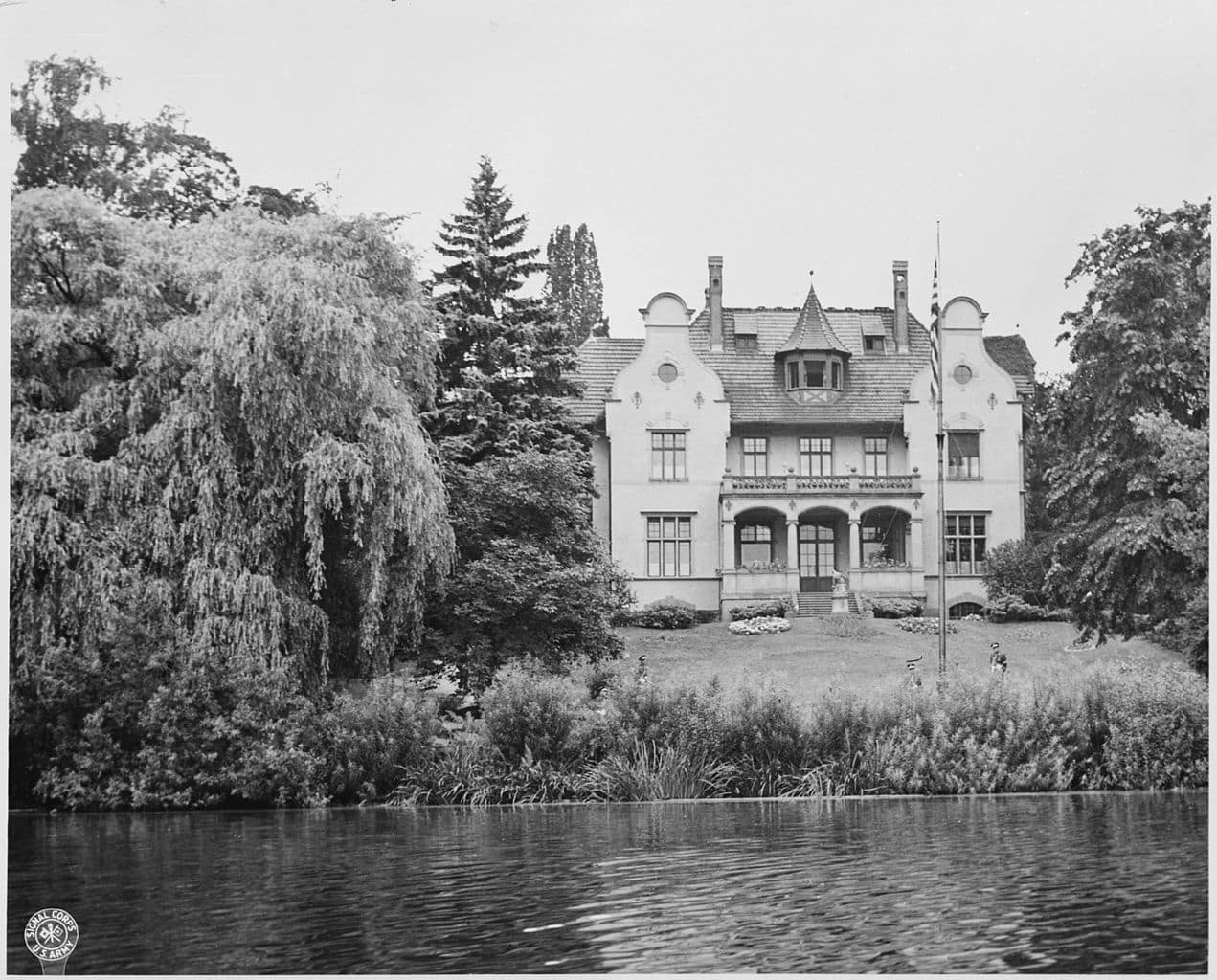 The Potsdam Conference - July 16th 1945 - View Of The Little White House (Harry Truman's Villa)