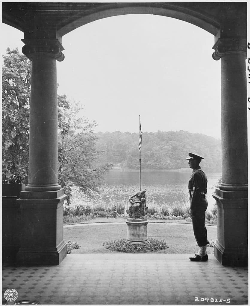 The Potsdam Conference - July 25th 1945 - A view of the garden of the 'Little White House'