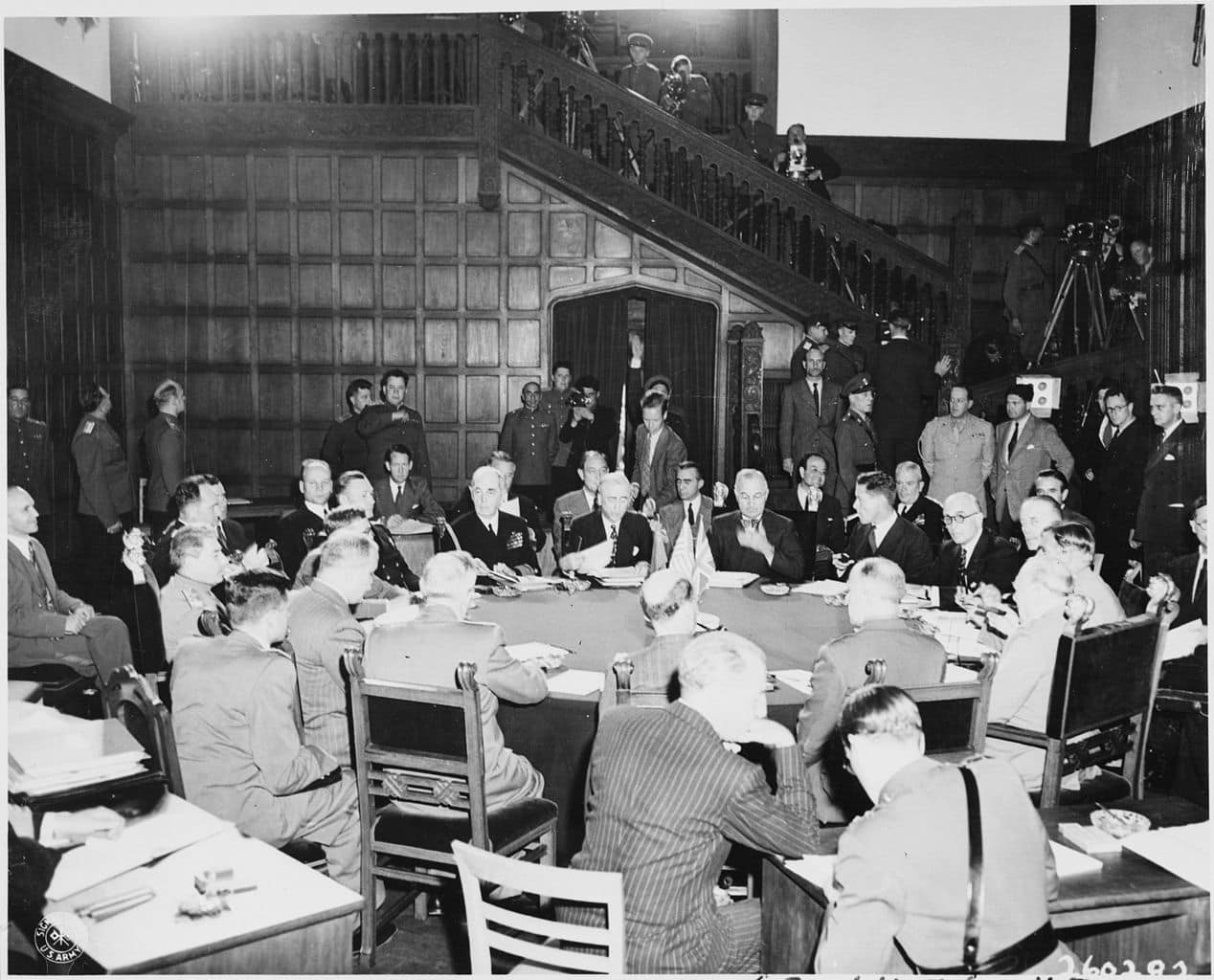 The Potsdam Conference - July 22nd 1945 - Another tense session of the Potsdam Conference would see the Big Three tackle the question of Poland again