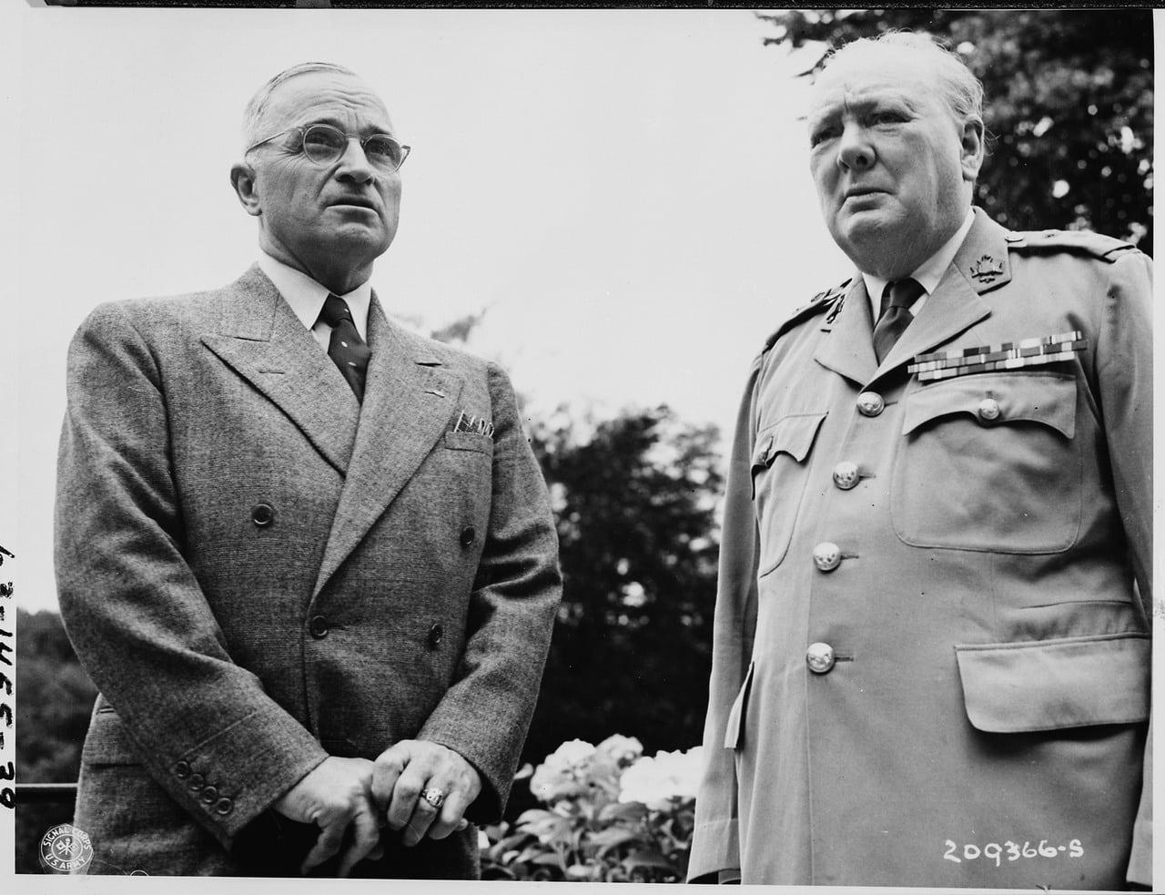 The Potsdam Conference - July 18th 1945 - Truman and Churchill meet at Churchill's Villa