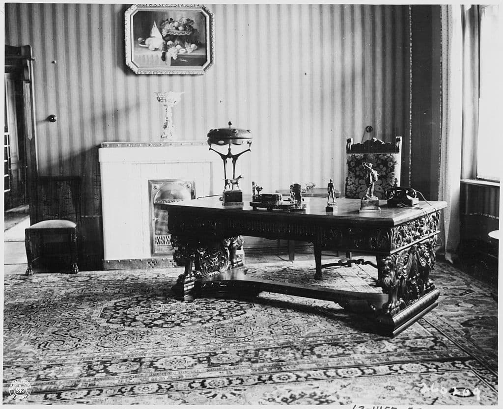 The Potsdam Conference - July 25th 1945 - President Truman's office in the 'Little White House'