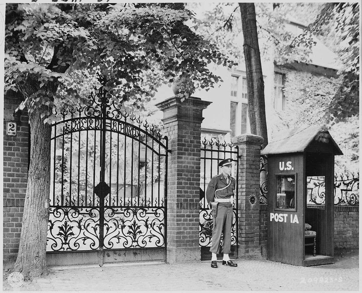 Potsdam Conference - July 19th 1945 - The Entrance To Truman's Villa