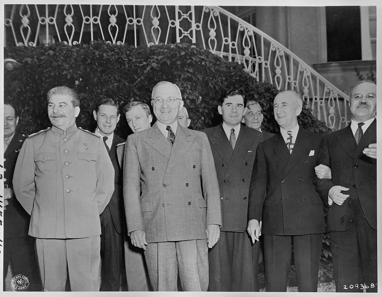 The Potsdam Conference - July 27th 1945 - Despite their professional disagreements, Byrnes and Molotov (right) would become quite close at the Potsdam Conference
