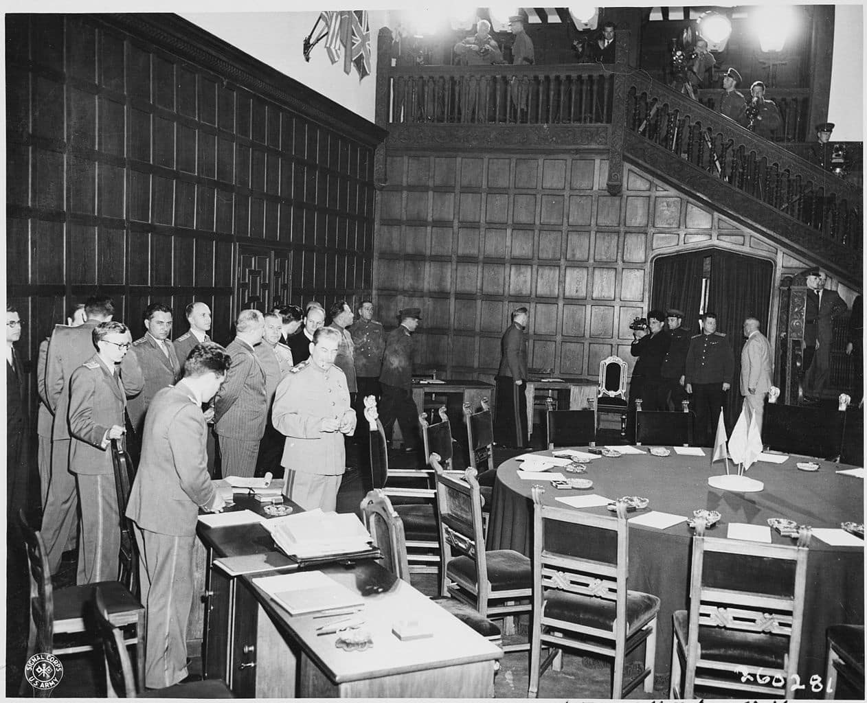 The Potsdam Conference - July 20th 1945 - Stalin and Molotov gather for the fourth plenary session of the Potsdam Conference on July 20th 1945