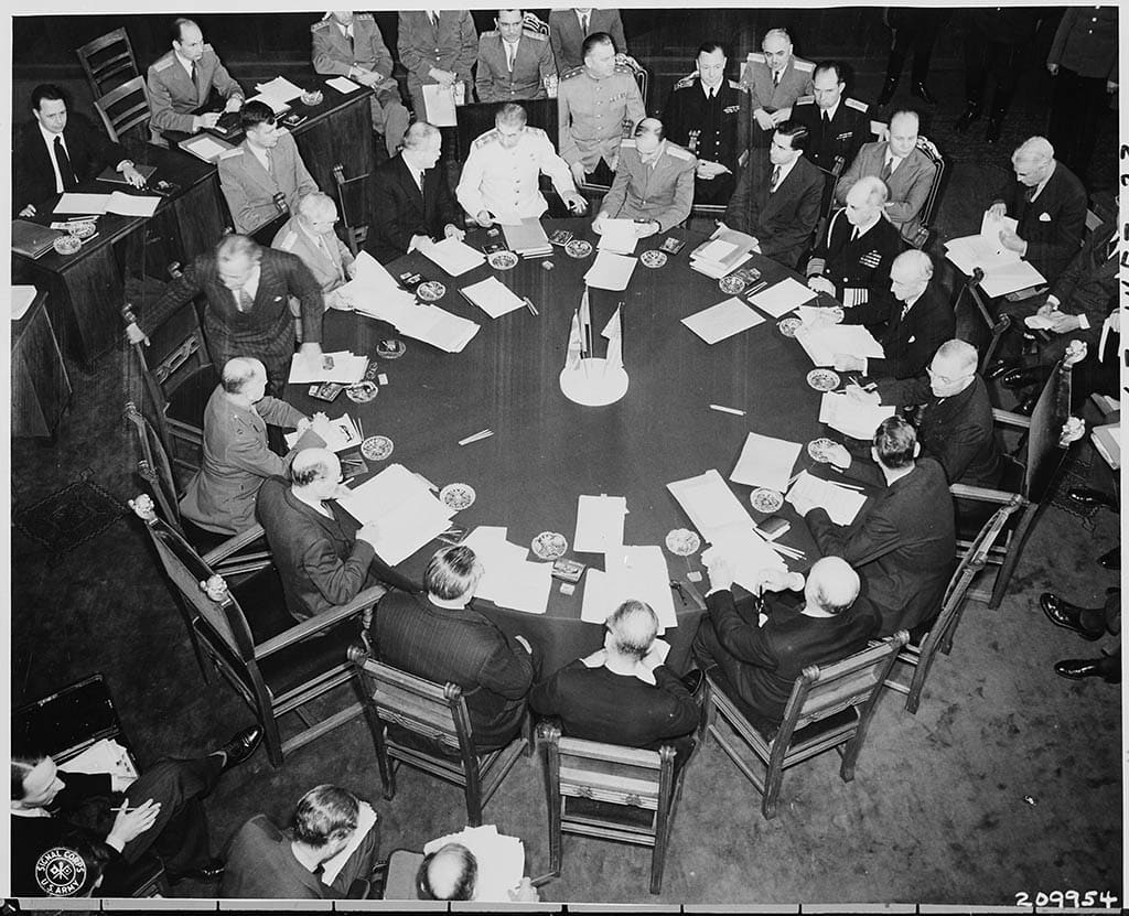 The Potsdam Conference - July 28th 1945 - Clement Attlee's first plenary session as head of the UK delegation