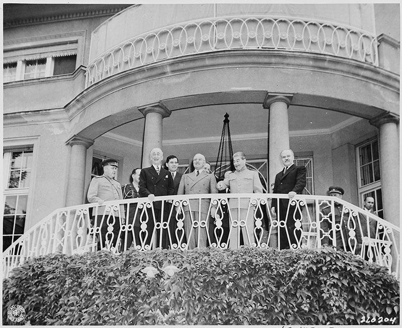 The Potsdam Conference - July 18th 1945 - Truman visits Stalin at his villa