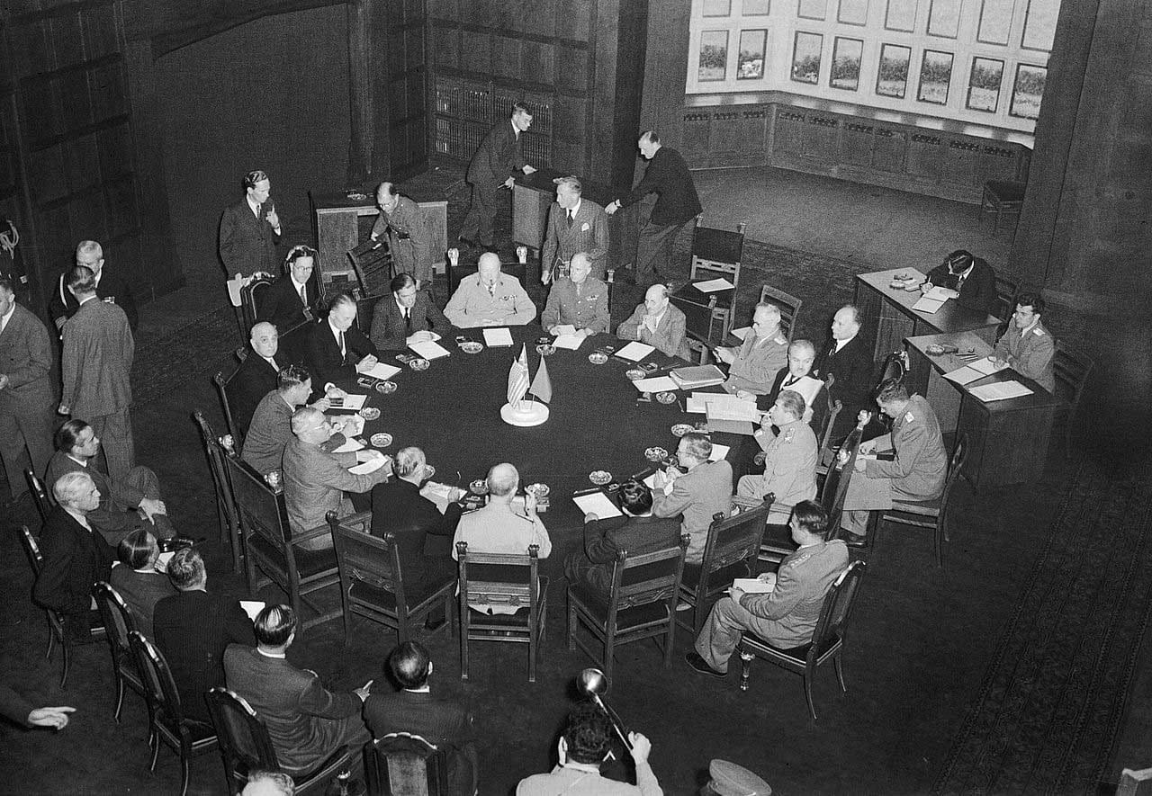 The Potsdam Conference - July 17th 1945 - The opening session of the Potsdam Conference