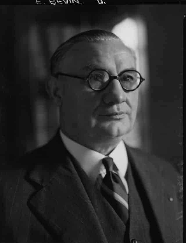 The Potsdam Conference - July 29th 1945 - British Foreign Minister Ernest Bevin who replaced Anthony Eden following Clement Attlee's election success