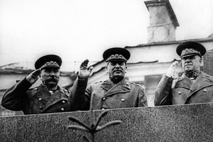 Joseph Stalin at the Soviet Victory Parade on Red Square - June 1945