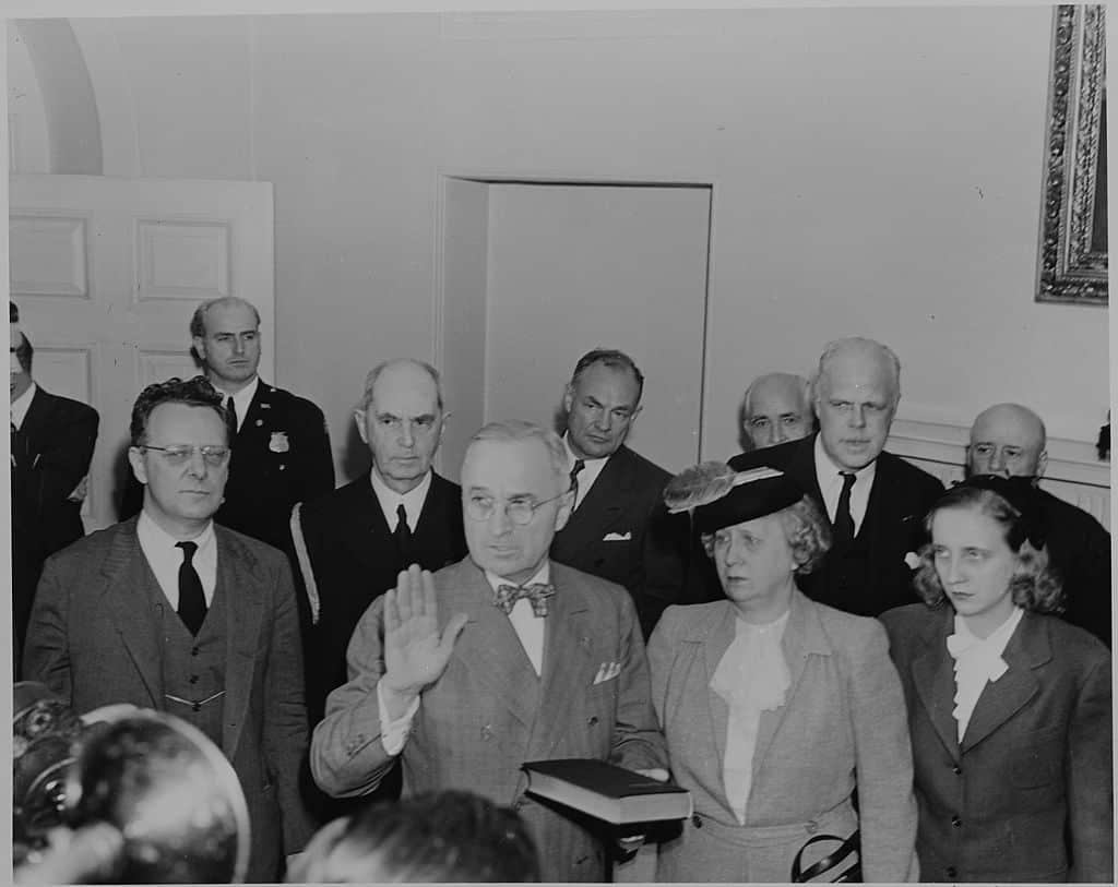 Harry S Truman sworn in as US President - April 1945
