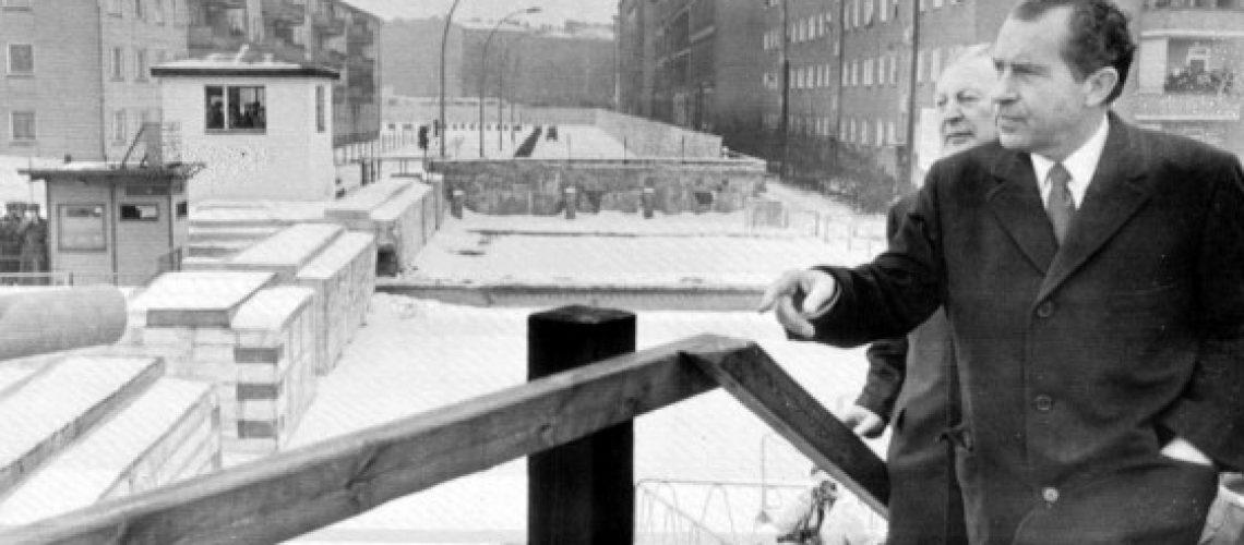Richard Nixon at the Berlin Wall